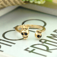 Crown Skull LOVE exaggerated personality ring opening R108_X