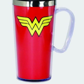 Wonder Woman Logo Stainless Steel Travel Mug