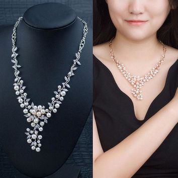 DCCKIX3 Jewelry Shiny Gift Stylish New Arrival Pearls 925 Silver Prom Dress Accessory Necklace [4914871876]