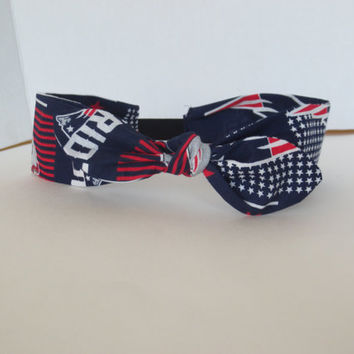 Patriots - Ajustable headbands - bow headband- NFL headbands