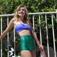 The Little Mermaid bandeau top with high waisted bikini bottoms