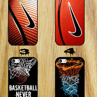 nike basketball never stops iPhone 4/4S/5/5S/5C/6 Samsung Galaxy S3/S4/S5 custom case