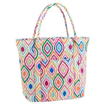 Quilted Sleepover Tote Bag, Ogee