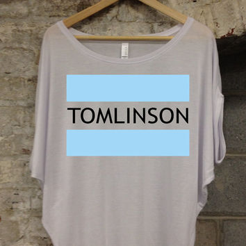 One Direction I Love Louis Tomlinson 401 x White x Flowey x Top x Dolman - All Sizes Available 401