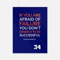 Afraid Charles Barkley Quote Poster