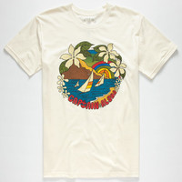 Captain Fin Island Vibin' Mens T-Shirt Natural  In Sizes