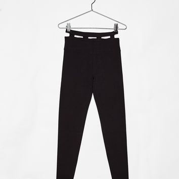 Sports leggings with cut-out belt loops - Pants - Bershka United States