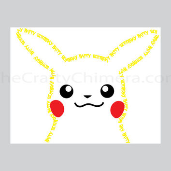 Pikachu Printable Birthday Card Pokemon