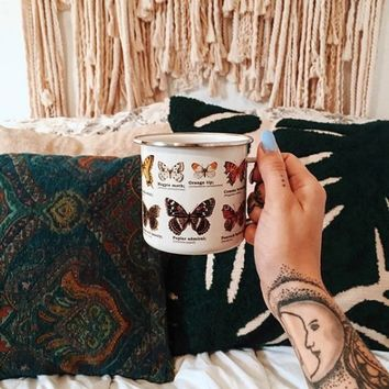Enamelware Butterfly Mug - Urban Outfitters