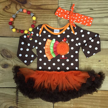 Polka Dot Turkey Tutu Bodysuit