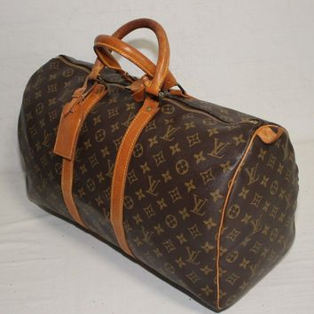 Authentic LOUIS VUITTON Monogram Keepall 45 Carry-On Travel bag