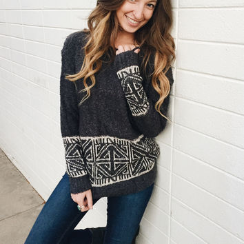 Ski Lodge Printed Sweater