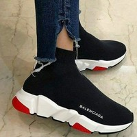 Balenciaga Women's Fashion Breathable Sports Running Shoes F