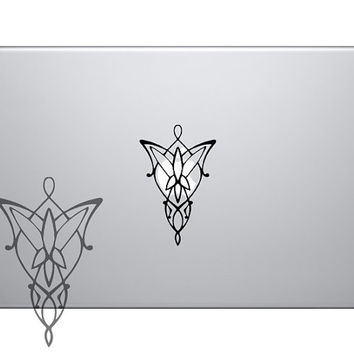 LOTR Evenstar Vinyl Sticker Laptop Macbook Mac Air Apple Lord Of The Rings Arwen