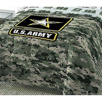 US Army Logo Microfiber TWIN Camo Bed Comforter