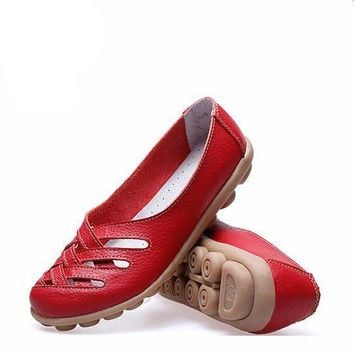 Fashion 10colors Women Genuine Leather Mother Shoes