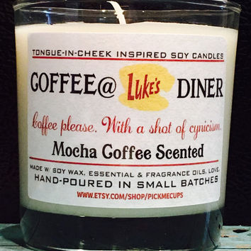 Gilmore Girls Coffee Soy Candle-  Coffee at Luke's Diner- Coffee Scented Candle -Gilmore Girls Gifts- Coffee Candle- Mother's Day Gift -