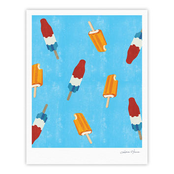 "KESS Original ""Feels like Summer"" Orange Food Fine Art Gallery Print"
