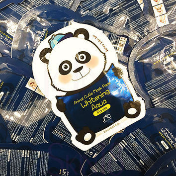 SOC Animal Cutie Mask Pack Whitening Aqua Panda x 10pcs (bulk)   *exp.date 03/18*