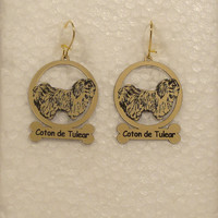 3012 Coton de Tulear Standing Earrings by gclasergraphics on Etsy