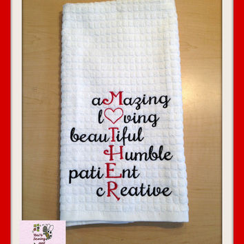 MOTHER personalized Kitchen towel