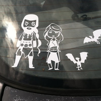 Game of Thrones inspired Family Vinyl Decals! Drogo, Daenerys, Dragons, and Eggs!