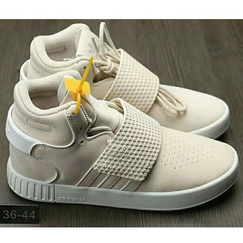 Adidas Originals Tubular Invader Strap Women Men Running Sport Casual Shoes Sneakers Beige I-HAOXIE-ADXJ