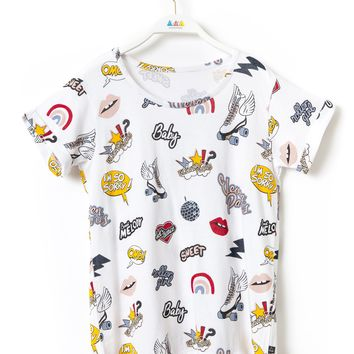 BERRA All-Over Graphic T-Shirt