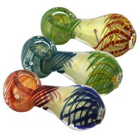 "3.5"" Swirl Glass Hand Pipe"