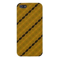 Pretty Modern Abstract Striped Black Gold Olive Cover For iPhone SE/5/5s