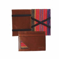 Brown Leather + Warm Hues WALÁ Wallet
