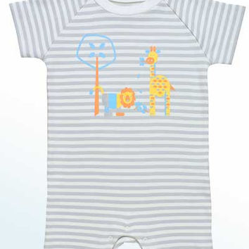 Baby Organic Cotton Romper - Jungle Animals Print