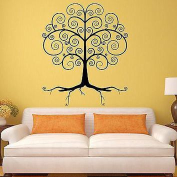 Wall Decal Beautiful Tree Forest Woodland Decor Vinyl Stickers Art Mural Unique Gift ig2604