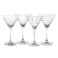 Mikasa Cheers 4-pc. Martini Glass Set