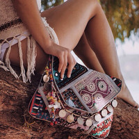 Authentic, handmade, Indian, Banjara Clucth bag. Boho/gyspy style clutch