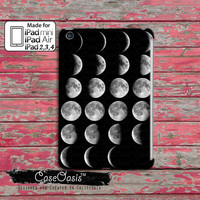 Moon Chart Phases Cool Tumblr Inspired Cute Custom iPad Mini, iPad 2/3/4 and iPad Air Case Cover