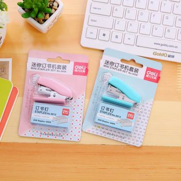 Mini Stapler 24 6 Plastic Stationery Set Kawaii Stapler Paper Office Accessories Mini Binder Stationary Set