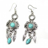 Turquoise Fashionable Dangle Earrings