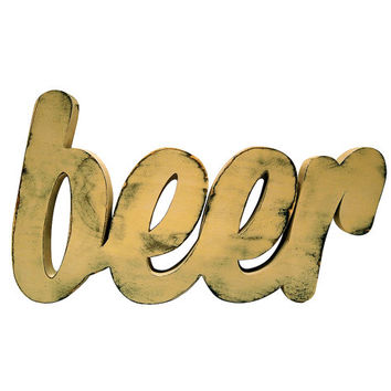 Wooden Beer Sign (Pictured In Khaki) Home Decor Wooden Letters Wedding Guest Book Photo Prop Rustic Americana Beer Sign Mancave