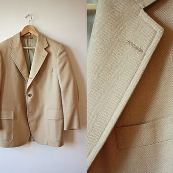 Brooks Brothers Tan Wool Silk Vintage Blazer 41 Regular