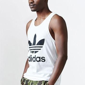adidas Trefoil White Tank Top at PacSun.com