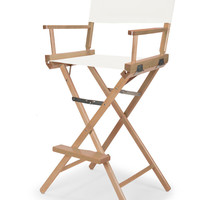Varnish Heritage Director Chair - Bar Height - White Cover