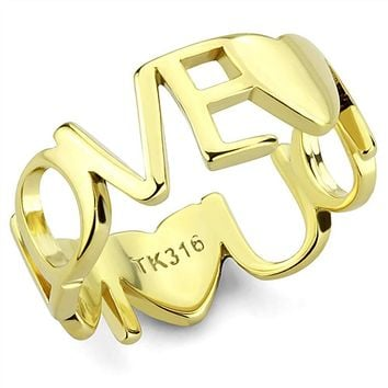 WidKlass dStainless Steel Ring IP Gold(Ion Plating) Women