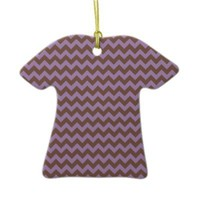 African Violet And Brown Chocolate Chevron Christmas Ornaments from Zazzle.com