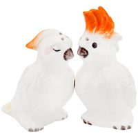 Cockatoos Snuggling Salt & Pepper Shakers