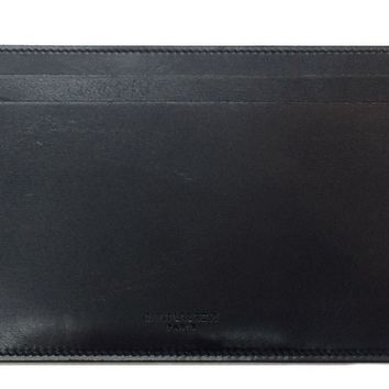 Saint Laurent Long Wallet Document Holder Black Leather 315875