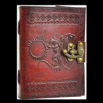 Dragon Refueling Genuine Leather Blank Journal with Latch