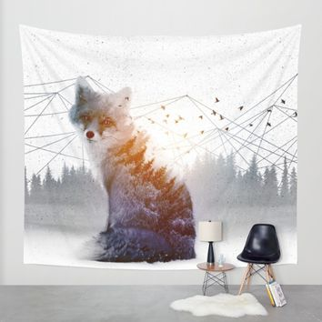 A Wilderness Within / Fox Wall Tapestry by Soaring Anchor Designs | Society6