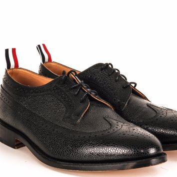 Thom Browne Pebbled Wingtip Oxford Shoes