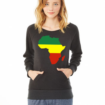 Africa Reggae Design 1 ladies sweatshirt